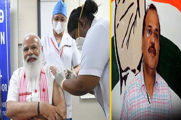 पीएम मोदी ने लगवाया कोरोना का टीका, कांग्रेस को हुआ दर्द!