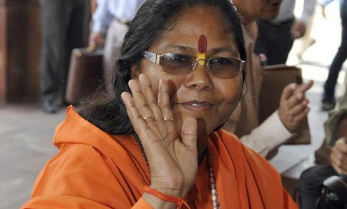 देश के लिए नहीं, राहुल को PM बनाने के लिए एकजुट हुए विपक्षी : साध्वी निरंजन ज्योति